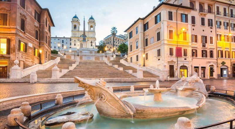 Испанская лестница Рим