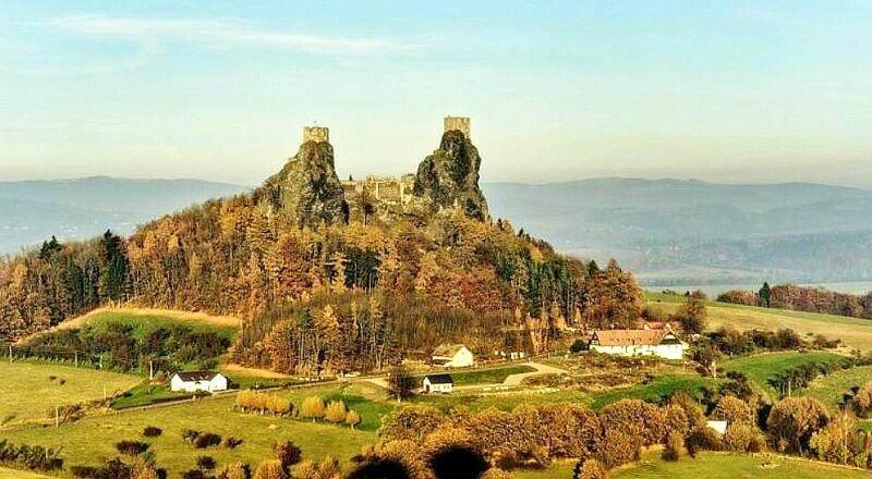 Руины крепости Троски Чехия