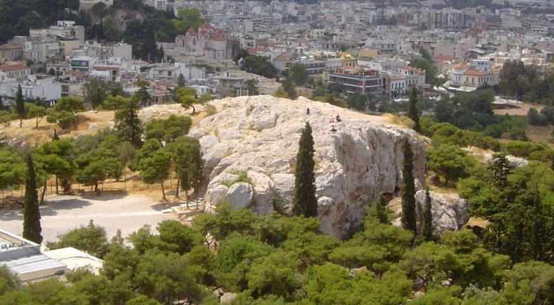 Холм Ареопаг Афины