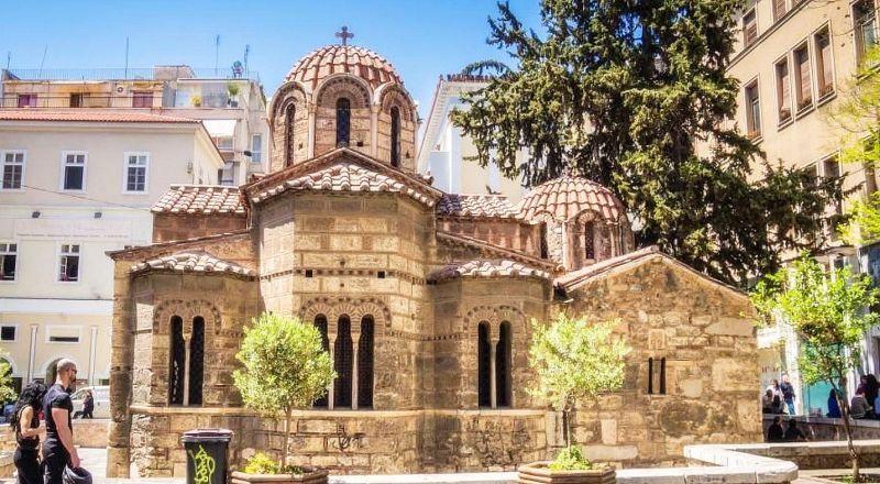 Церковь Панагия Капникарея Афины Греция