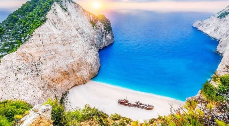 Пляж Навагио Закинф Греция
