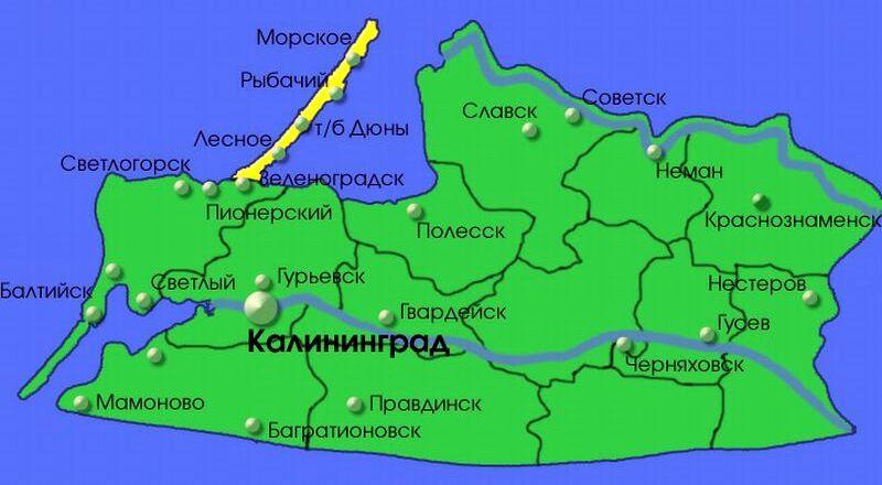 Карта Калининград