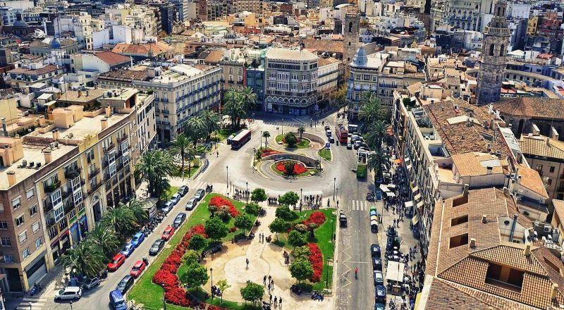 Площадь королевы в Валенсии