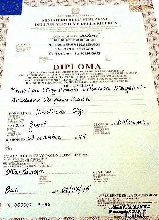 Ольга мартынова диплом