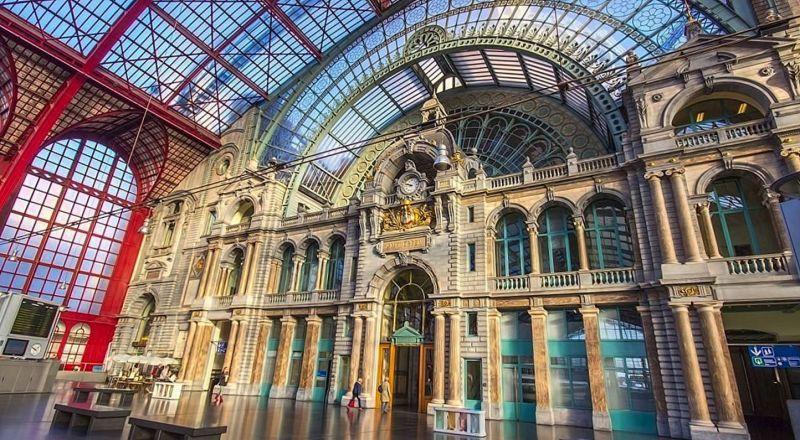 Бельгия Центральный вокзал Антверпена