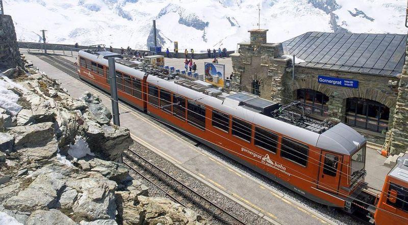 Швейцария железная дорога Горнерграт