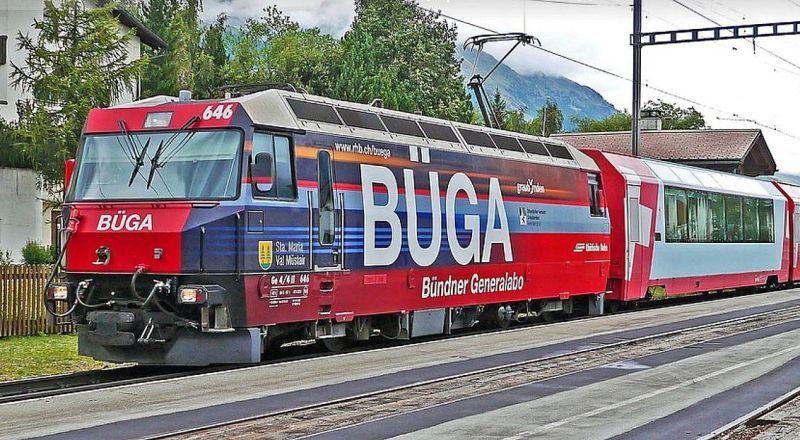 Швейцария Ретийская железная дорога