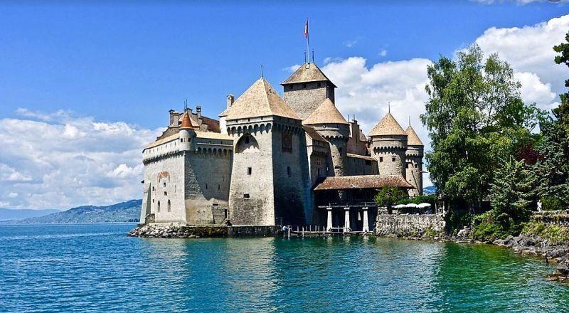 Швейцария Шильонский замок