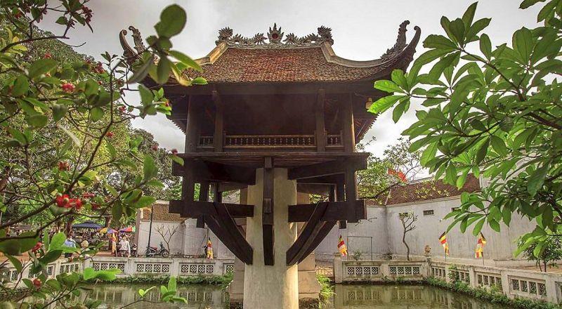 Пагода на одном столбе Тюа-Мот-Кот